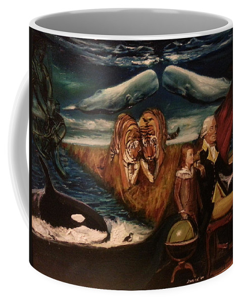 Coffee Mug featuring the painting The Spirit Of A Great American President by Jude Darrien