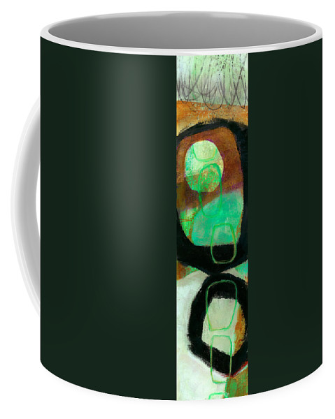 Abstract Coffee Mug featuring the painting Tidal Current 1 by Jane Davies