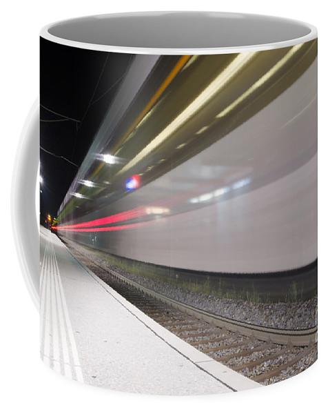 Train Station Coffee Mug featuring the photograph Train by Mats Silvan