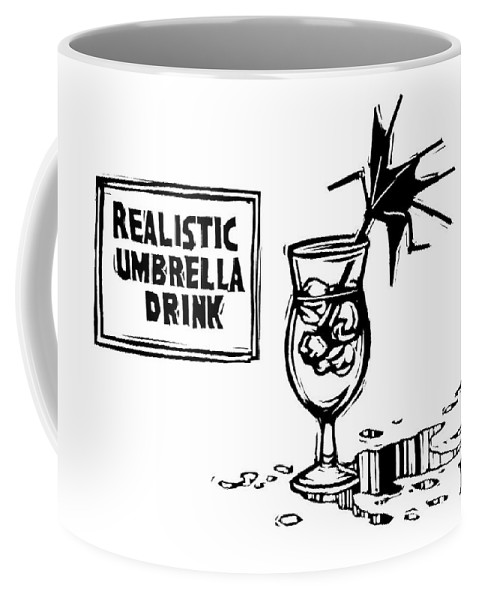 Realistic Umbrella Drink Coffee Mug featuring the drawing New Yorker October 24th, 2016 by Drew Dernavich