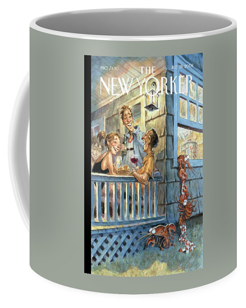 By Peter De Seve Coffee Mug featuring the painting New Yorker July 28th, 2008 by Peter de Seve