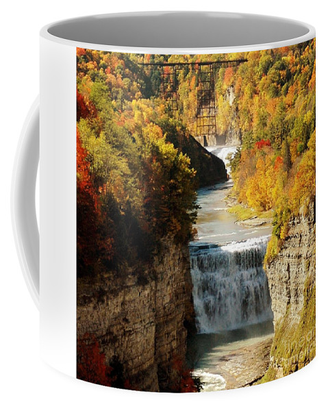 Upper Coffee Mug featuring the photograph Upper Falls by Kathleen Struckle