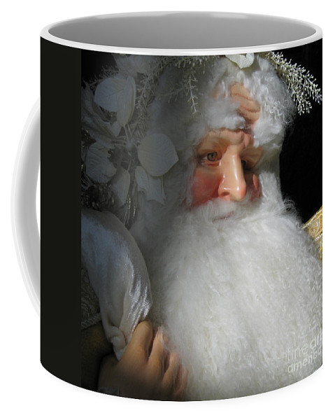 Christmas Coffee Mug featuring the photograph Upscale Father Christmas by Ann Horn
