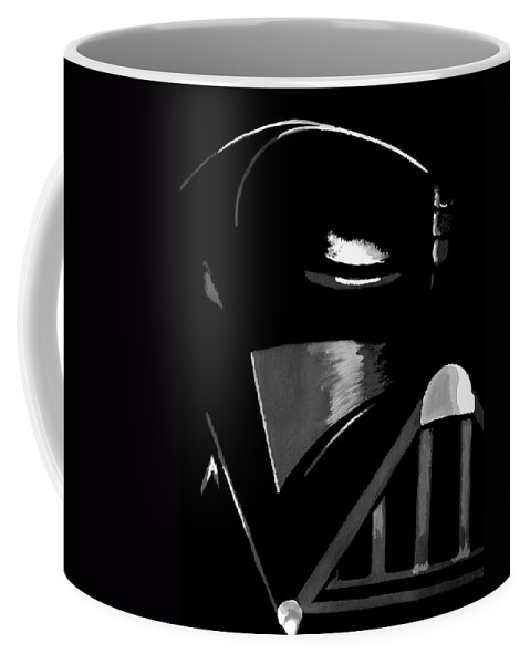 Star Wars Coffee Mug featuring the painting Vader by Dale Loos Jr