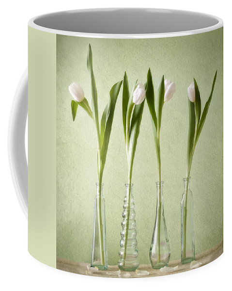 Tulpen Coffee Mug featuring the pyrography Waiting For Spring by Steffen Gierok