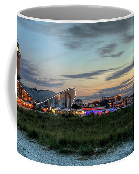 Ostsee Coffee Mug featuring the pyrography Warnemuende by Steffen Gierok