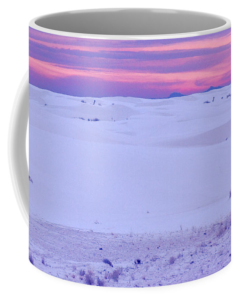 White Sands National Monument Coffee Mug featuring the photograph White Sands New Mexico by Bob Pardue