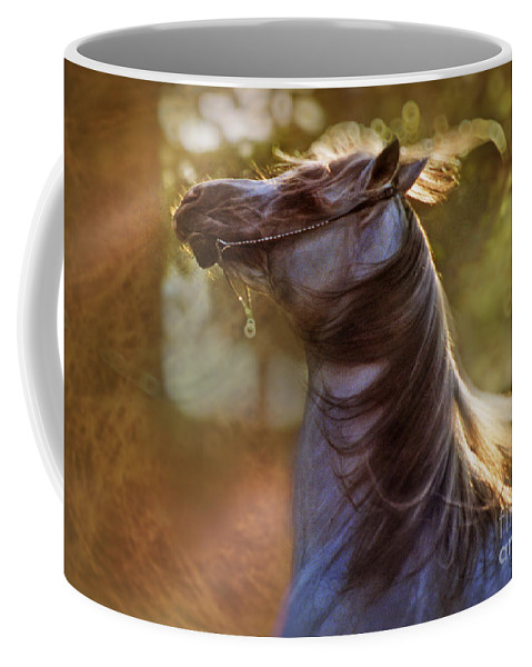 Horse Coffee Mug featuring the photograph Wild Heart by Angel Ciesniarska