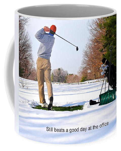Winter Coffee Mug featuring the photograph Winter Golf by Frozen in Time Fine Art Photography