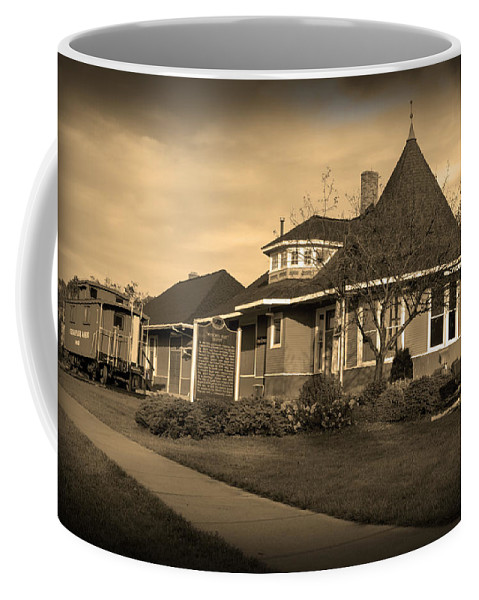 Witch's Hat Railroad Depot Coffee Mug featuring the photograph Witch's Hat Railroad Depot by Paul Cannon