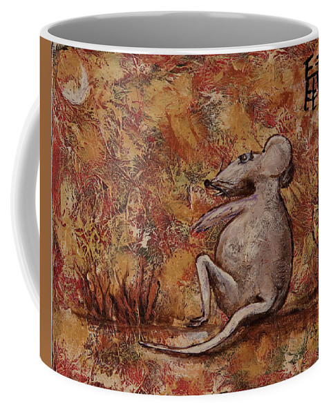 Animal Coffee Mug featuring the painting Year Of The Rat by Darice Machel McGuire