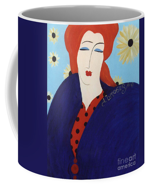 #female Coffee Mug featuring the painting 2001 Collection by Jacquelinemari