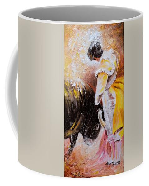 Bullfight Coffee Mug featuring the painting 2010 Toro Acrylics 03 by Miki De Goodaboom