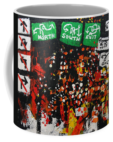 Street Signs Coffee Mug featuring the painting 2012 068 New Jersey by Alyse Radenovic