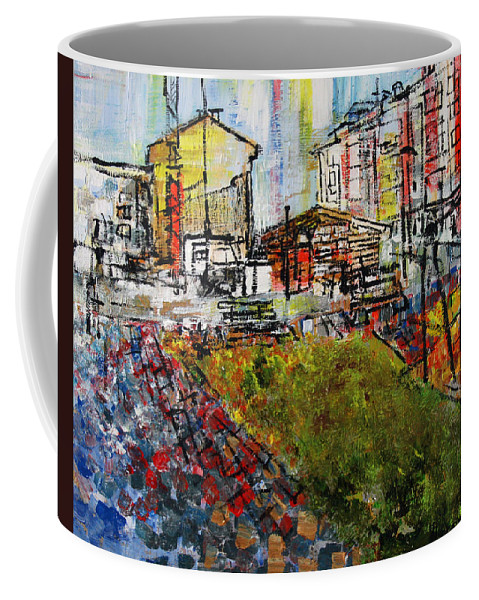 Pastel Colors Coffee Mug featuring the painting 2012 111 Lukavica by Alyse Radenovic