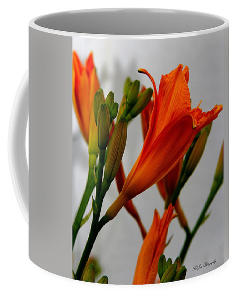 Lily Coffee Mug featuring the photograph 2013 Day Lilies by Jeanette C Landstrom