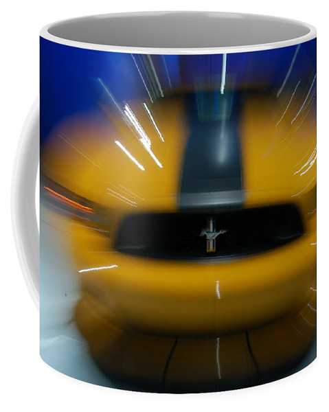 Yellow Stallion Coffee Mug featuring the photograph 2013 Ford Mustang by Randy J Heath