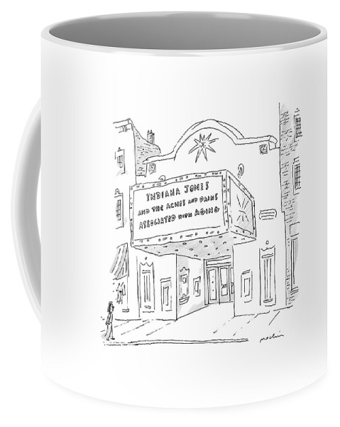 Movies Coffee Mug featuring the drawing New Yorker May 26th, 2008 by Michael Maslin