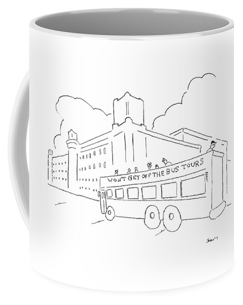 Bus Coffee Mug featuring the drawing New Yorker January 28th, 2008 by Michael Shaw