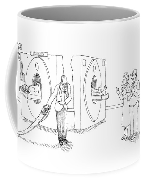 Technology Coffee Mug featuring the drawing Mri Magician by Paul Noth