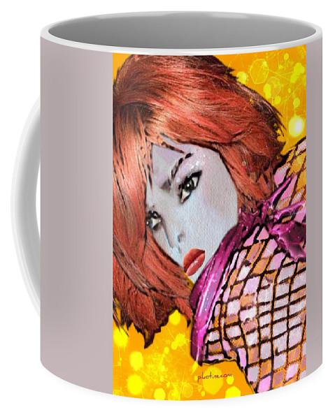 Pikotine Coffee Mug featuring the painting Lyne by Pikotine Art