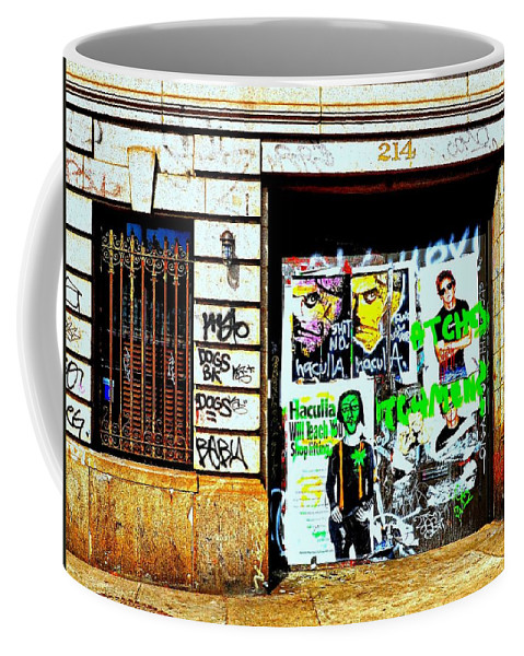 Graffiti Coffee Mug featuring the photograph 214 by Diana Angstadt