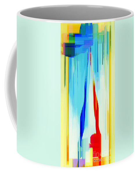 Abstract Coffee Mug featuring the digital art Abstract Series Iv by Rafael Salazar