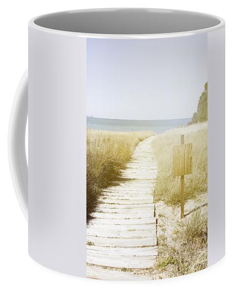 Beach Coffee Mug featuring the photograph Beach View by Les Cunliffe