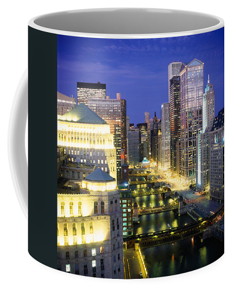 Photography Coffee Mug featuring the photograph Buildings At The Waterfront by Panoramic Images
