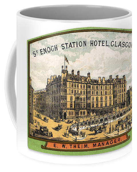 20th Century Coffee Mug featuring the photograph Luggage Label by Granger