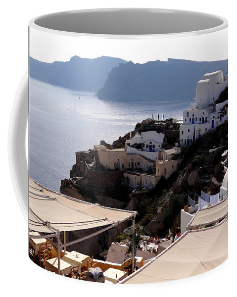 Santorini Coffee Mug featuring the photograph Views Of Santorini Greece by Richard Rosenshein