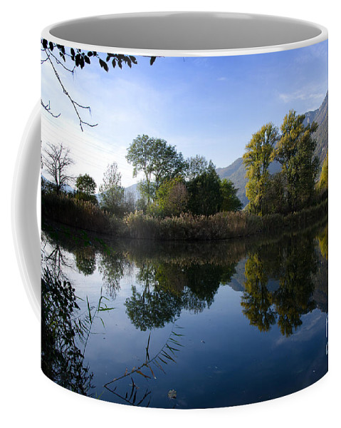 Trees Coffee Mug featuring the photograph Alpine Lake by Mats Silvan
