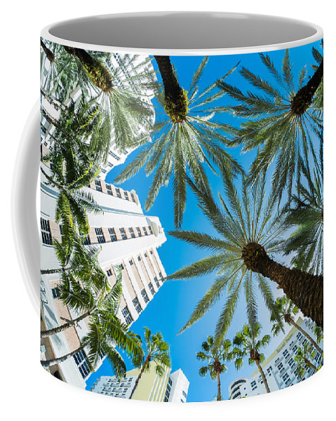 Architecture Coffee Mug featuring the photograph Miami Beach by Raul Rodriguez