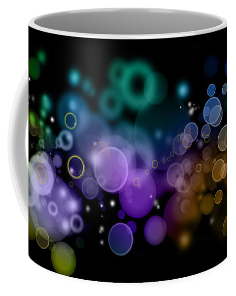 Colors Coffee Mug featuring the photograph Abstract Background by Les Cunliffe