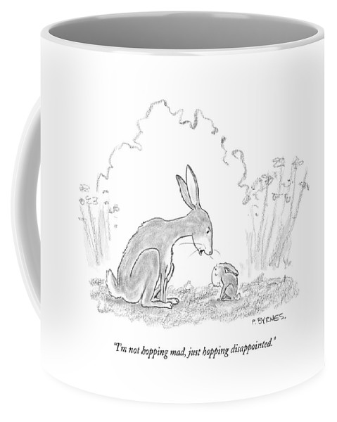 Animals Coffee Mug featuring the drawing I'm Not Hopping Mad by Pat Byrnes