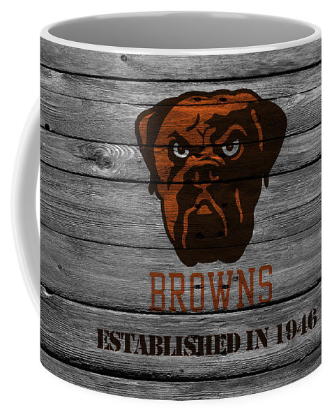Browns Coffee Mug featuring the photograph Cleveland Browns by Joe Hamilton