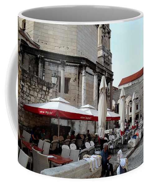 Split Croatia Coffee Mug featuring the photograph Views Of Split Croatia by Richard Rosenshein