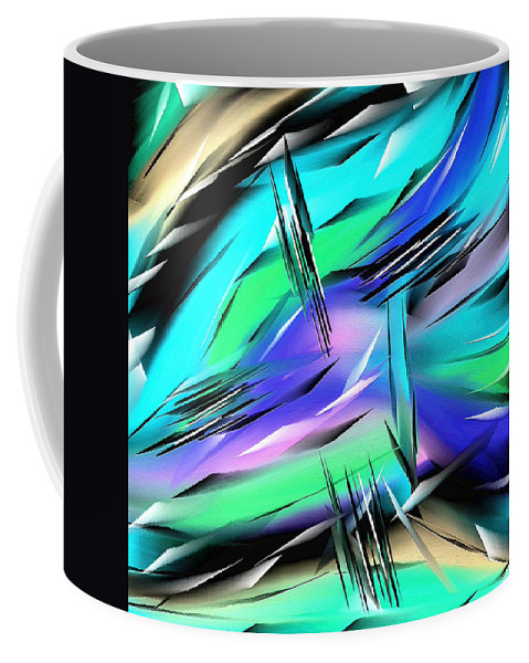 Abstract Coffee Mug featuring the painting 269a by Ely Arsha