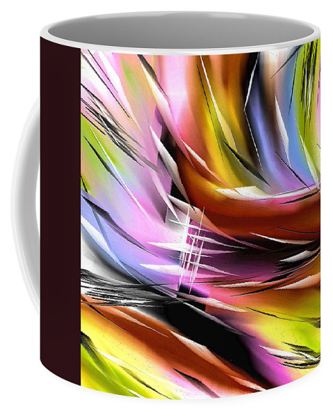 Abstract Coffee Mug featuring the painting 270a by Ely Arsha