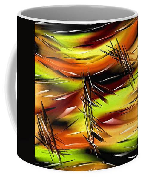 Abstract Coffee Mug featuring the painting 271a by Ely Arsha