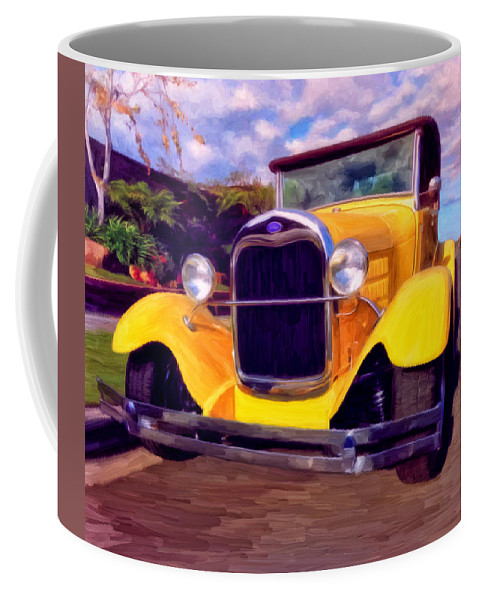 Resto Mod Coffee Mug featuring the painting '28 Ford Pick Up by Michael Pickett