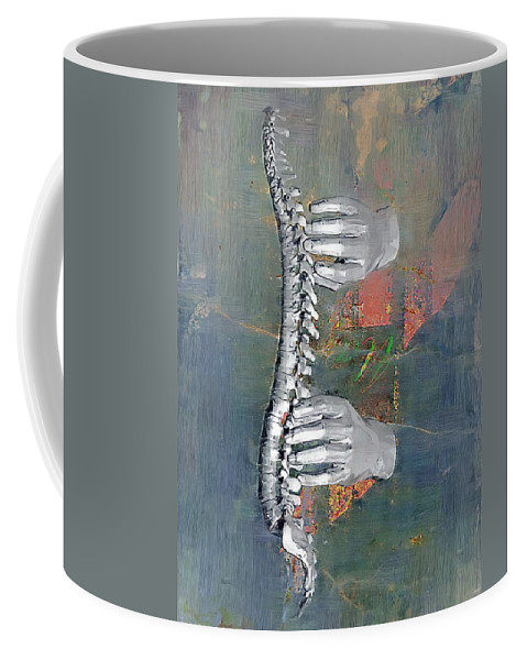 Chiropractor Coffee Mug featuring the digital art Healing Touch by Joseph Ventura