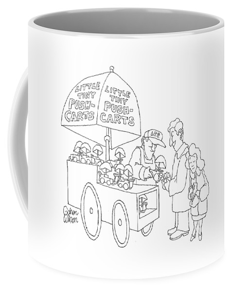 Vendor Coffee Mug featuring the drawing New Yorker April 23rd, 2007 by Gahan Wilson