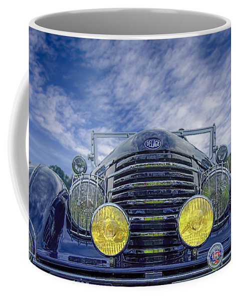 Antique Coffee Mug featuring the photograph 1935 Delage by Jack R Perry