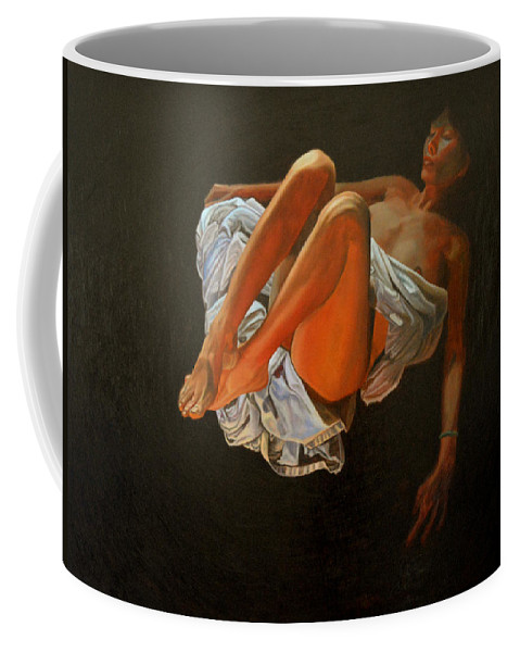 Oil-painting Coffee Mug featuring the painting 3 30 Am by Thu Nguyen