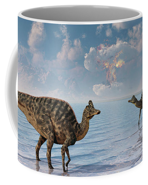 Horizontal Coffee Mug featuring the photograph An Asteroid Hitting The Earth, Marking by Mark Stevenson