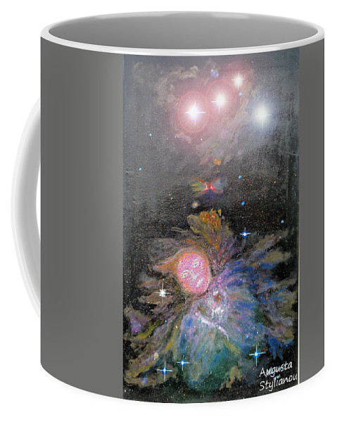 Augusta Stylianou Coffee Mug featuring the digital art Aphrodite In Orion's Nebula by Augusta Stylianou