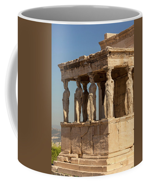 Photography Coffee Mug featuring the photograph Athens, Attica, Greece. Porch by Panoramic Images