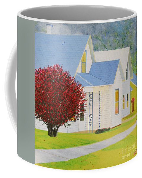 Autumn Coffee Mug featuring the painting Autumn In Nebraska City by Christine Belt