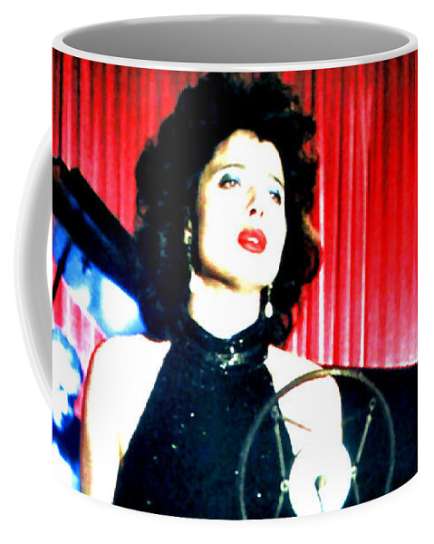 Isabella Rossellini Coffee Mug featuring the painting Blue Velvet by Luis Ludzska